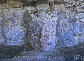 campeche archaeological site temple de los mascarones